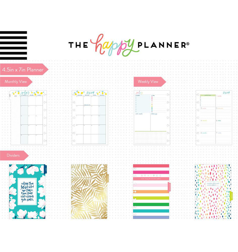 Southern Preppy 2019 - 2020 Mini Happy Planner (12 Months) Page Layouts & Dividers