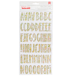 American Crafts Spring Fling Floral Chipboard Thickers Front