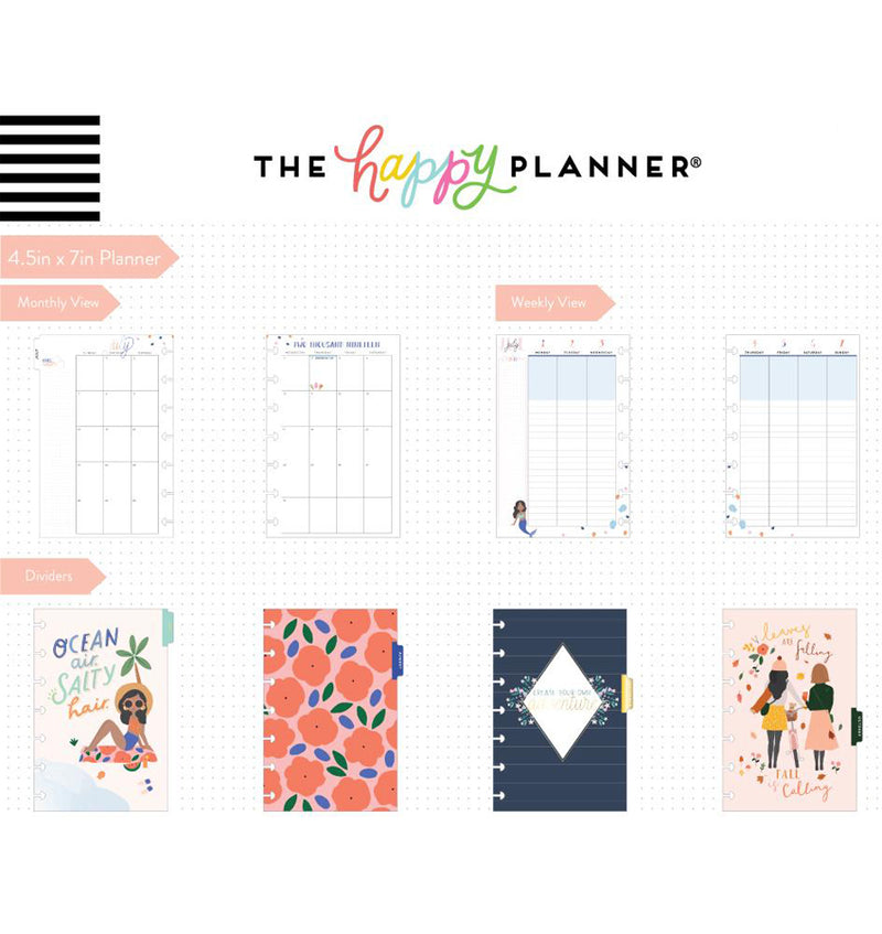 Squad Life 2019 - 2020 Mini Happy Planner (12 Months) Page Layouts & Dividers