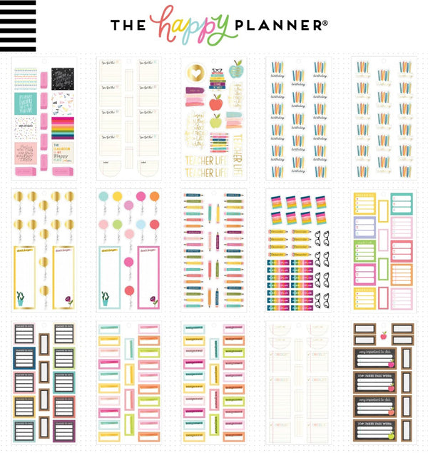 Teacher Planner Sticker Pack (722pcs) Designs