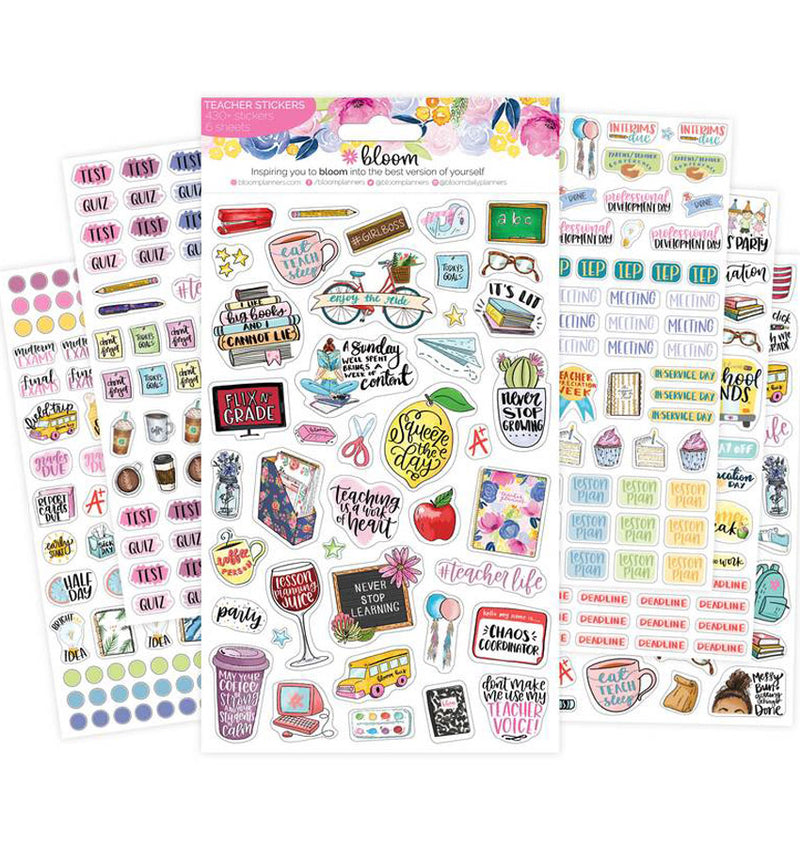 Bloom's Teacher Planner Sticker Sheet 6pcs Pack