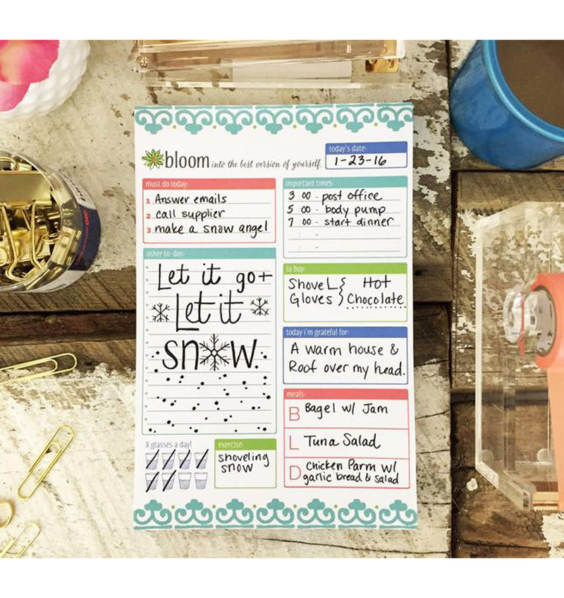 "Teal Planning System Daily To Do Pad, 6"" x 9"" (60 sheets)"
