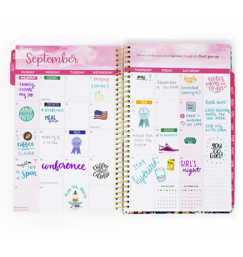 The Best Is Yet To Come 2019-2020 Bloom Soft Cover Daily Planner Monthly View