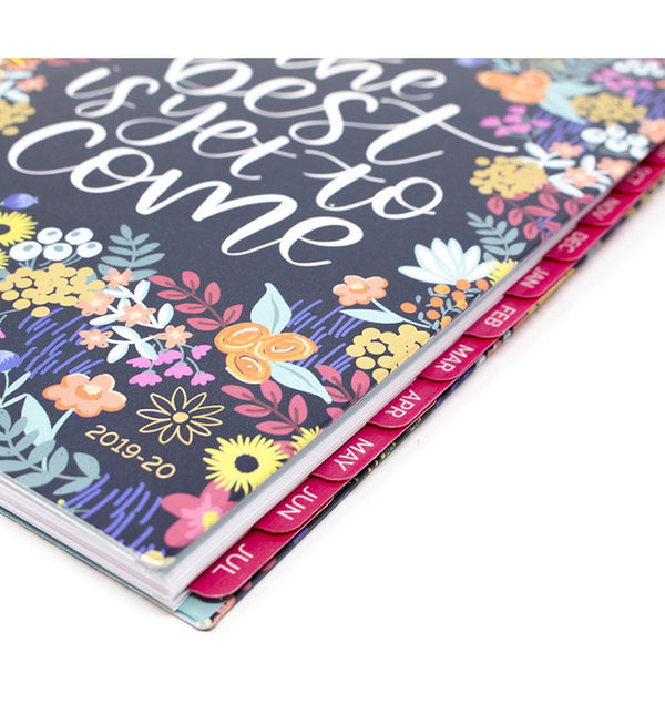 The Best Is Yet To Come 2019-2020 Bloom Soft Cover Daily Planner Side View