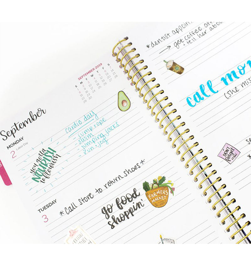 The Best Is Yet To Come 2019-2020 Bloom Soft Cover Daily Planner Weekly View