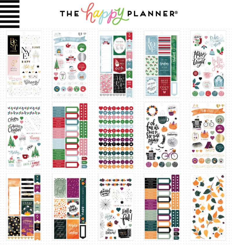 All in a Season Planner Sticker Pack (876pcs) Sheet Designs One