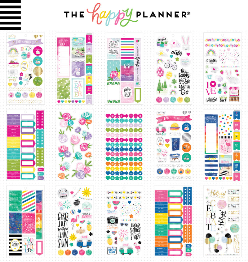 All in a Season Planner Sticker Pack (876pcs) Sheet Designs Two