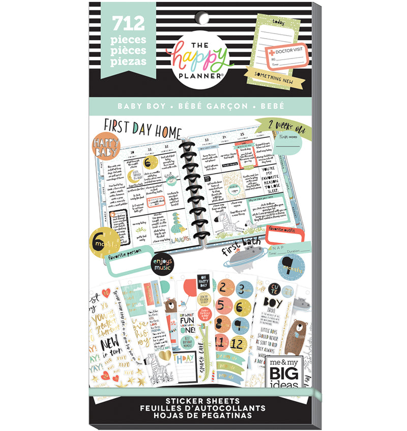 The Happy Planner Baby Boy Planner Sticker Pack (712pcs) Cover