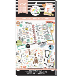 The Happy Planner Baby Girl Planner Sticker Pack (762pcs) Cover