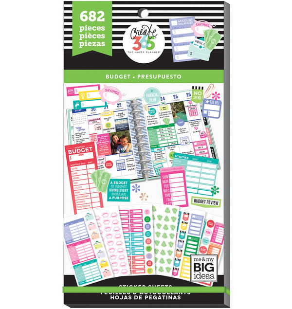 The Happy Planner Budget Fill In Planner Sticker Pack (682pcs) Cover