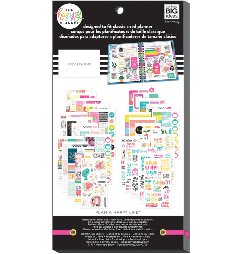 The Happy Planner Happy Quotes Planner Sticker Pack (496pcs) Back