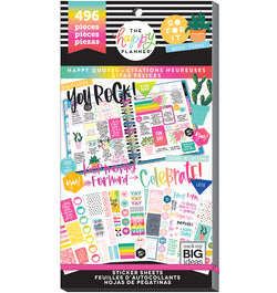 The Happy Planner Happy Quotes Planner Sticker Pack (496pcs) Cover