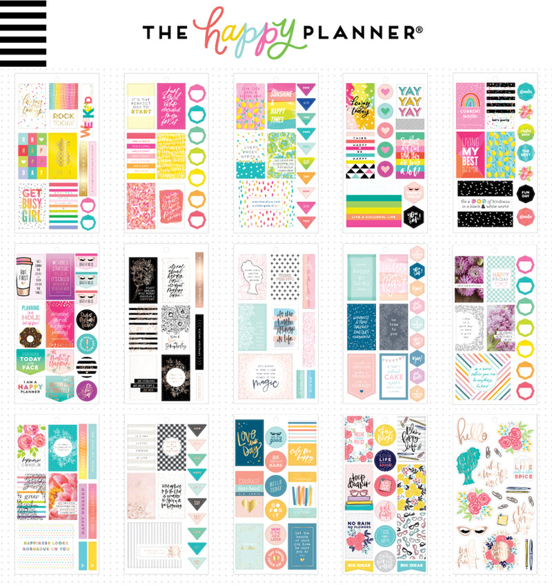 The Happy Planner Happy Quotes Planner Sticker Pack (496pcs) Designs One