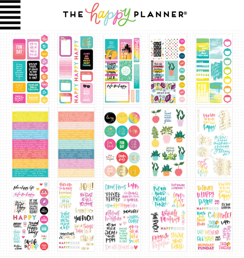 The Happy Planner Happy Quotes Planner Sticker Pack (496pcs) Designs Two