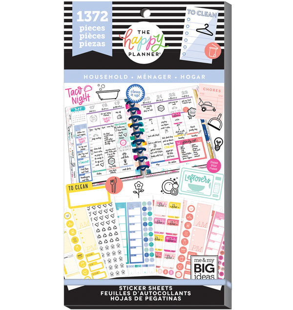 The Happy Planner Household Planner Sticker Pack (1372pcs) Cover