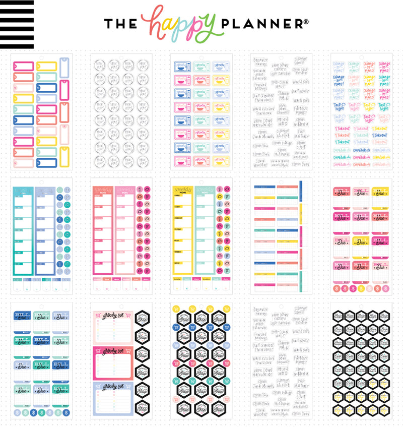 The Happy Planner Household Planner Sticker Pack (1372pcs) Designs Two
