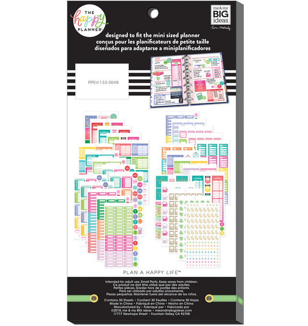 The Happy Planner Mini Budget Planner Sticker Pack (1331pcs) Back