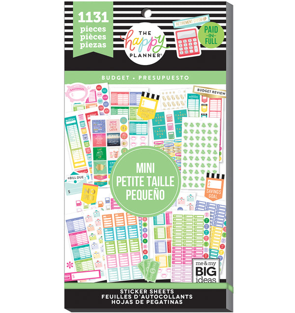 The Happy Planner Mini Budget Planner Sticker Pack (1331pcs) Cover