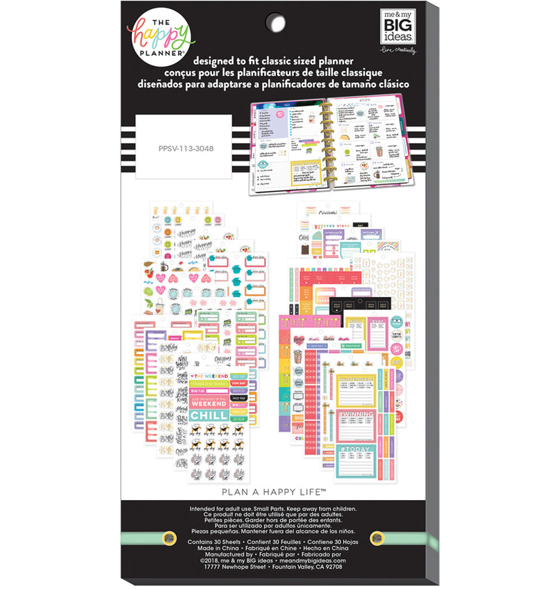 The Happy Planner Essential Planning Planner Sticker Pack (1009pcs) Back
