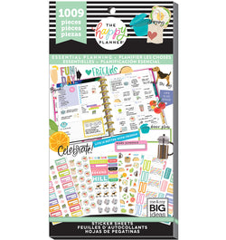 The Happy Planner Essential Planning Planner Sticker Pack (1009pcs) Cover