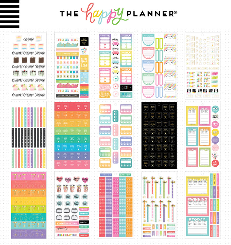 The Happy Planner Essential Planning Planner Sticker Pack (1009pcs) Designs Two