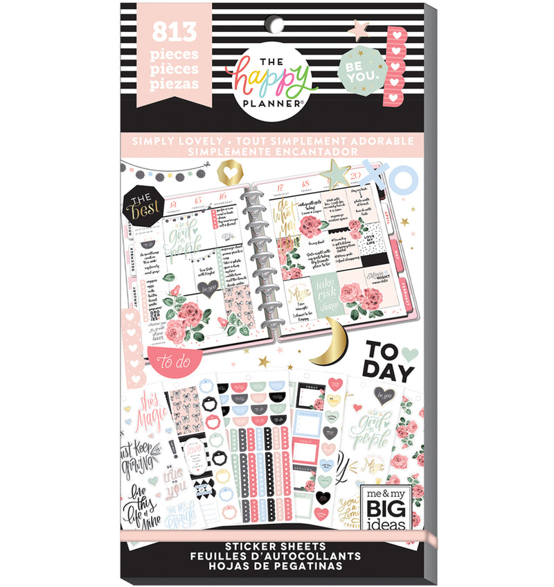 The Happy Planner Simply Lovely Planner Sticker Pack (813pcs) Cover