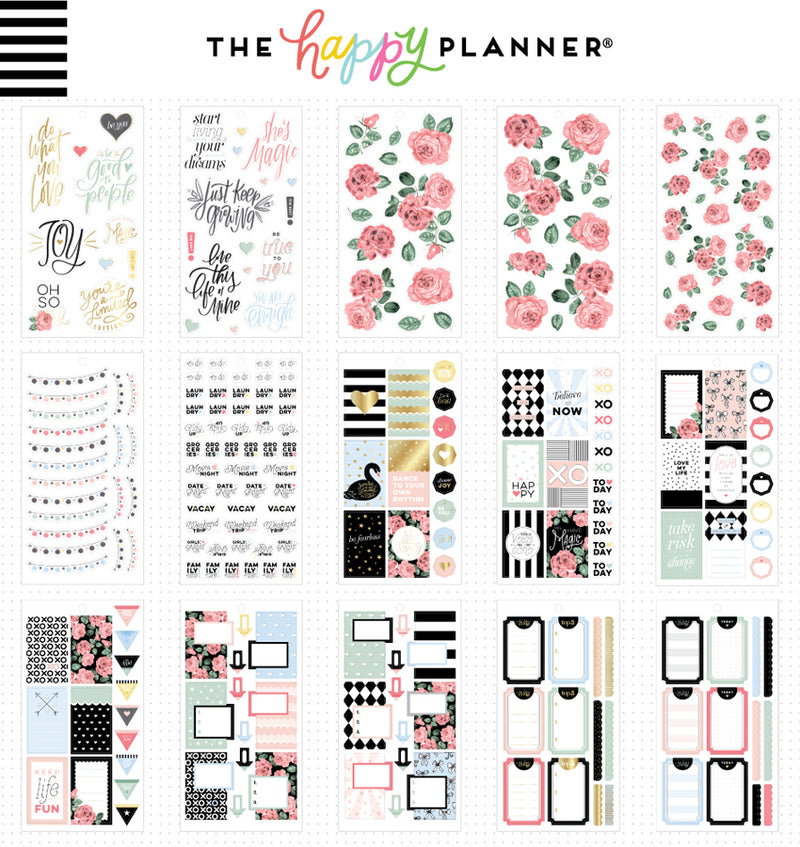The Happy Planner Simply Lovely Planner Sticker Pack (813pcs) Designs One