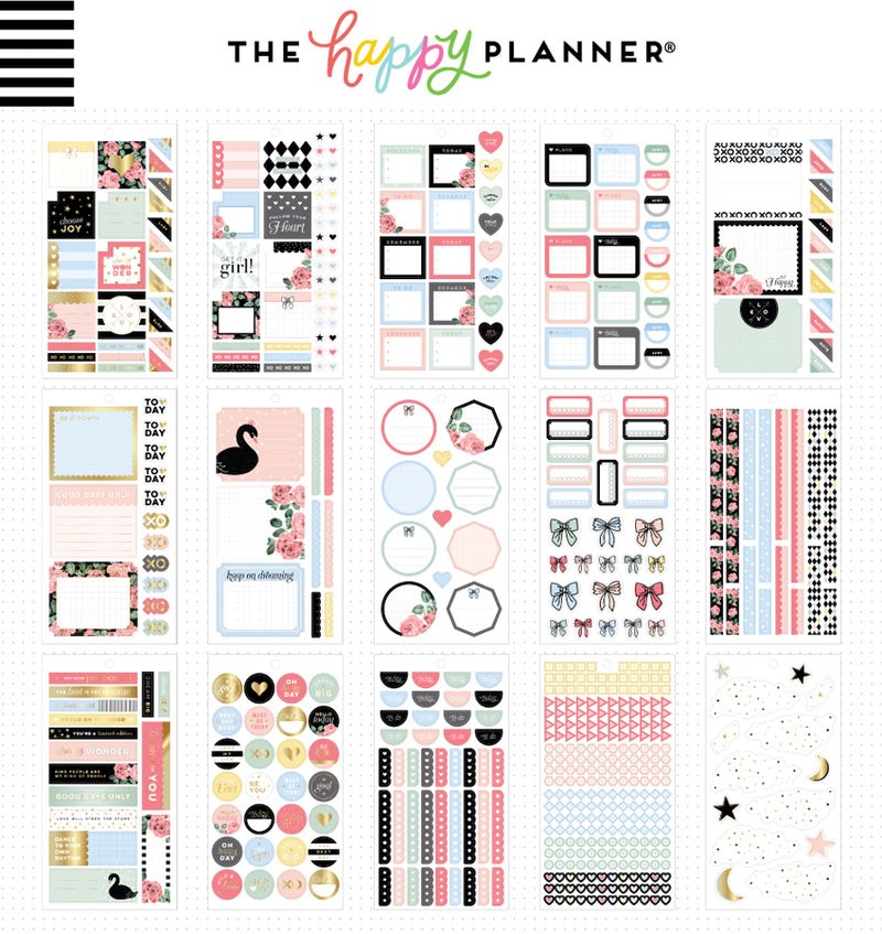 The Happy Planner Simply Lovely Planner Sticker Pack (813pcs) Designs Two