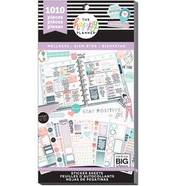The Happy Planner Wellness Planner Sticker Pack (1010pcs) Cover