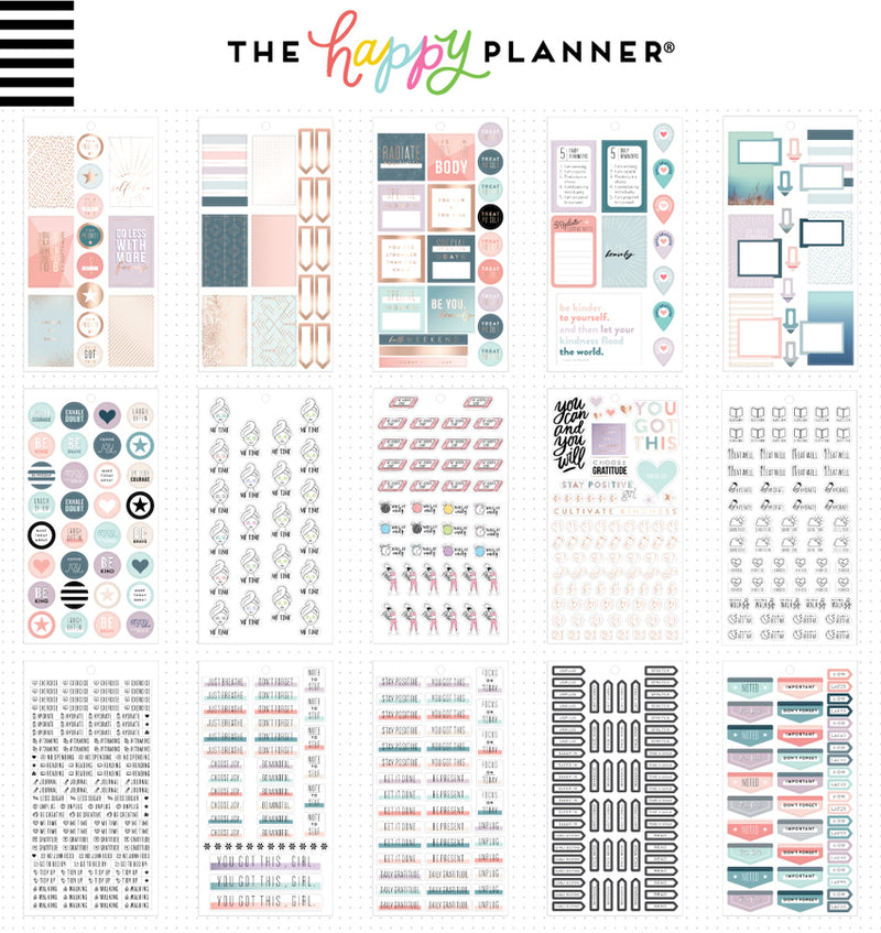 The Happy Planner Wellness Planner Sticker Pack (1010pcs) Designs One