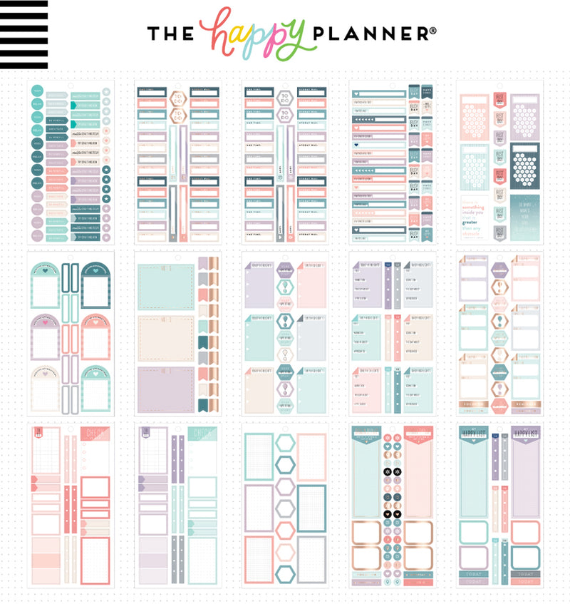 The Happy Planner Wellness Planner Sticker Pack (1010pcs) Designs Two