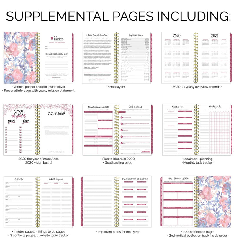 Bloom This Year Is For Blooming 2020 Soft Cover Daily Planner Supplemental Pages
