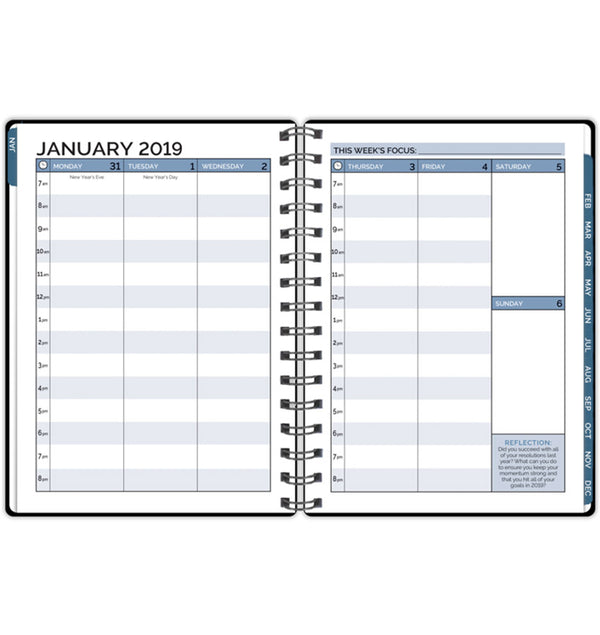 Bloom 2019 Hardcover Timed Planner Monthly View Timed Page