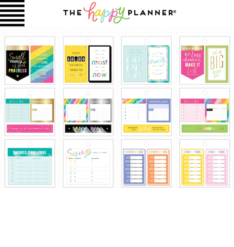 Happy Planner Budget Tiny Sticker Pad (41pcs) Designs One