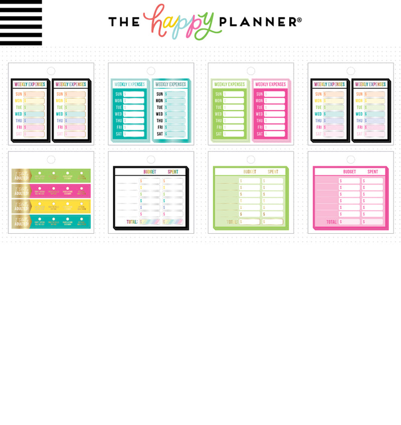 Happy Planner Budget Tiny Sticker Pad (41pcs) Designs Two