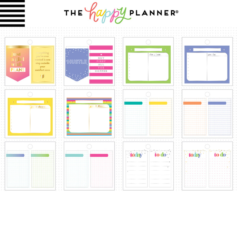 Happy Planner Productivity Tiny Sticker Pad (31pcs) Designs One
