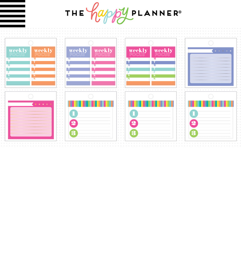 Happy Planner Productivity Tiny Sticker Pad (31pcs) Designs Two