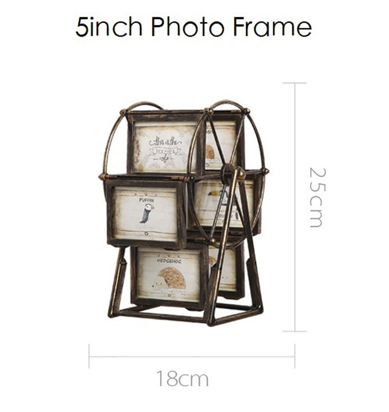 Vintage Ferris Wheel Photo Frame