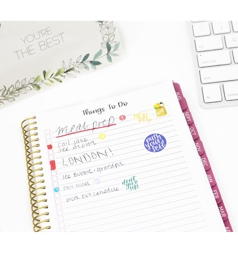 Vintage Floral 2019-2020 Bloom Soft Cover Planner Things To Do