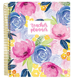 Watercolor Floral Teacher Planner Undated