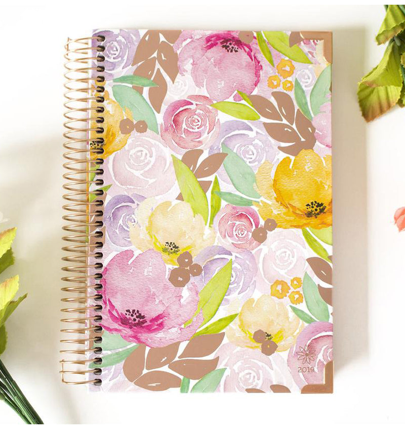 Watercolor Floral 2019 Hard Cover Daily Planner