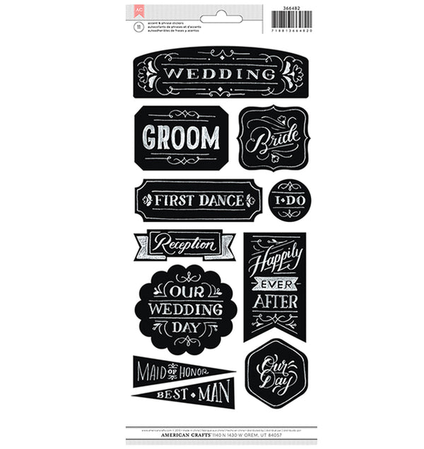 Chalkboard Wedding Stickers American Crafts