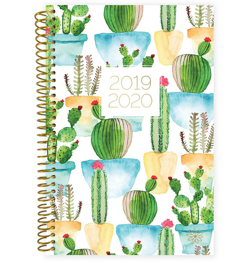 White Cacti 2019-2020 Bloom Soft Cover Daily Planner