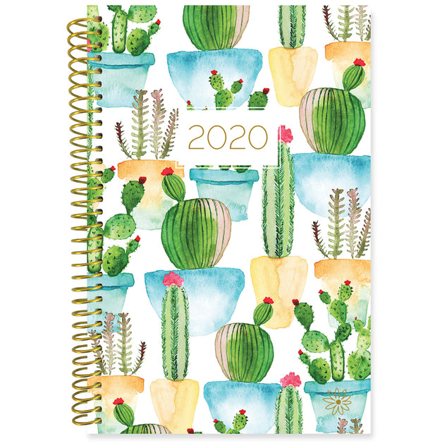 Bloom White Cacti 2020 Soft Cover Daily Planner