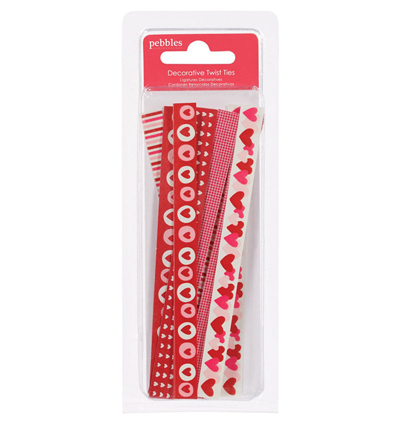Pebbles With Love Twist Ties Embellishment