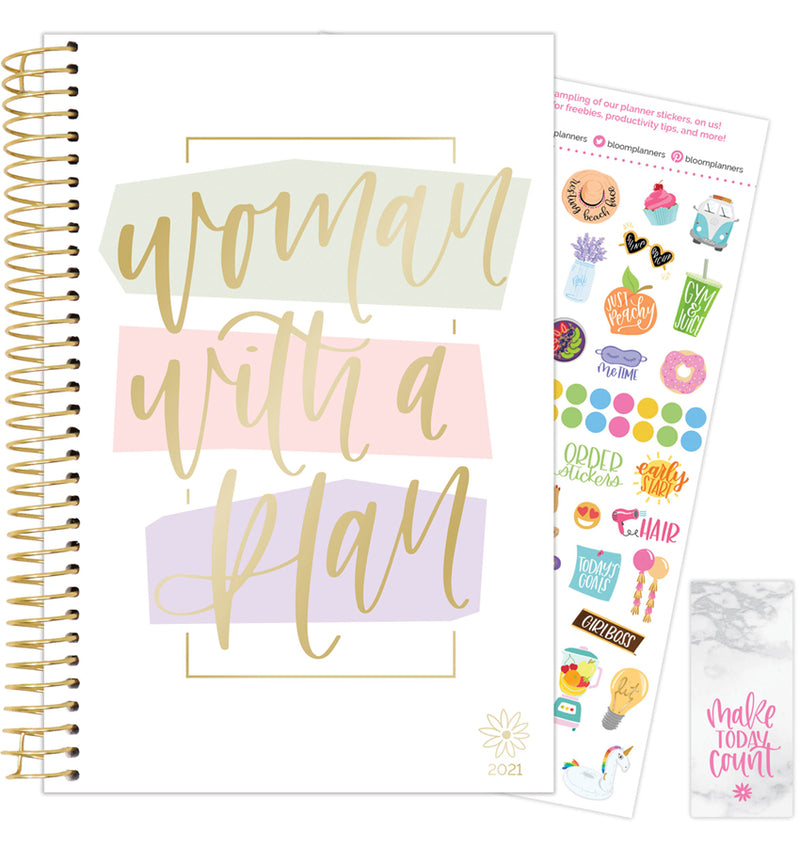 Woman With A Plan 2021 Soft Cover Daily Planner