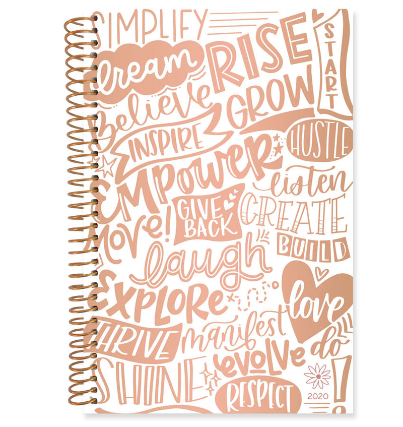 Bloom Word Of The Year 2020 Soft Cover Daily Planner