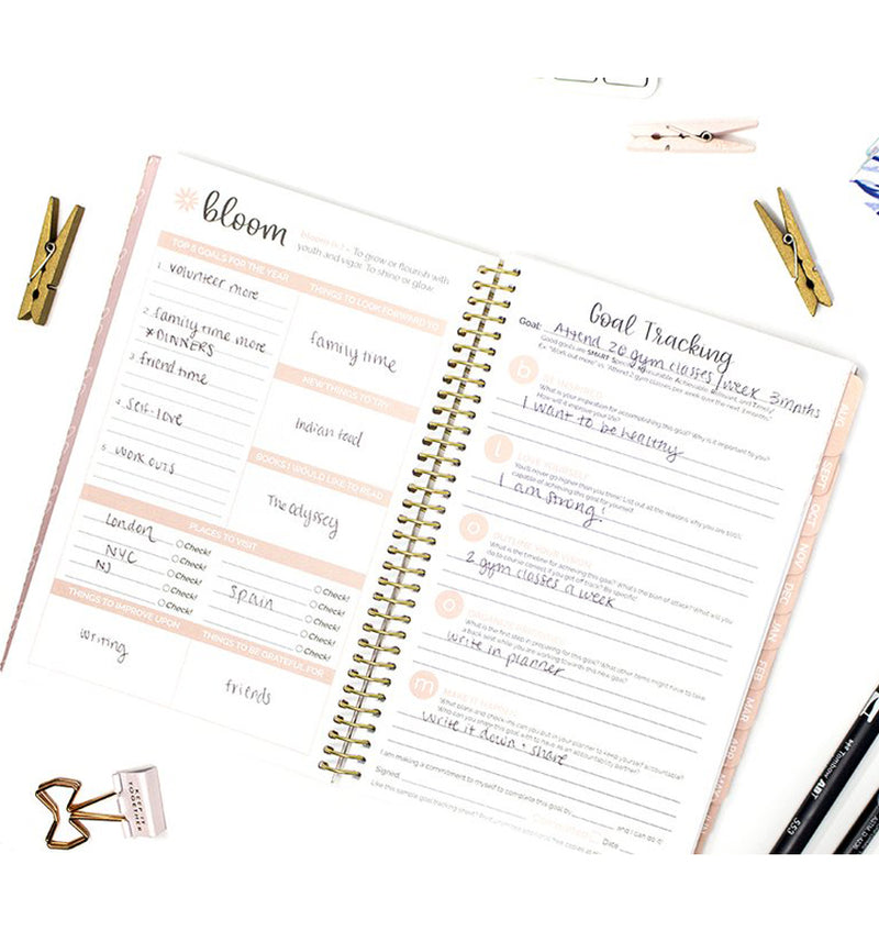 Writefully His 2019-2020 Bloom Soft Cover Daily Planner Goal Tracking