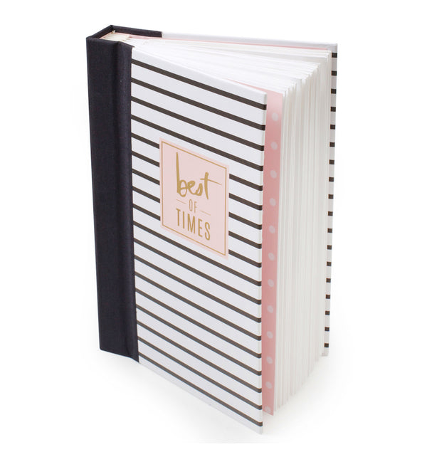 Heidi Swapp Best of Times Life Theme Album Book Side View with Pages