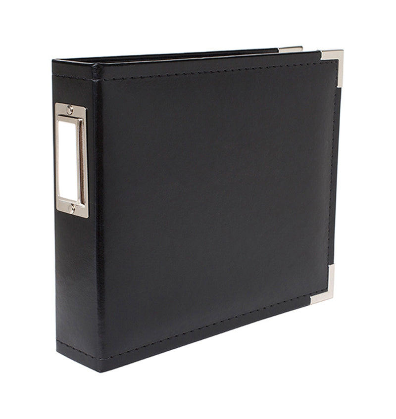 "We R Memory Keepers 6"" x 6"" Black Classic Leather Three Ring Album with Metal Accent at Craftforher"
